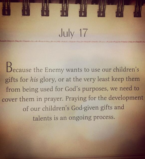 Never underestimate the power of praying parents!